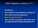 hilfe diabetes mellitus ii4