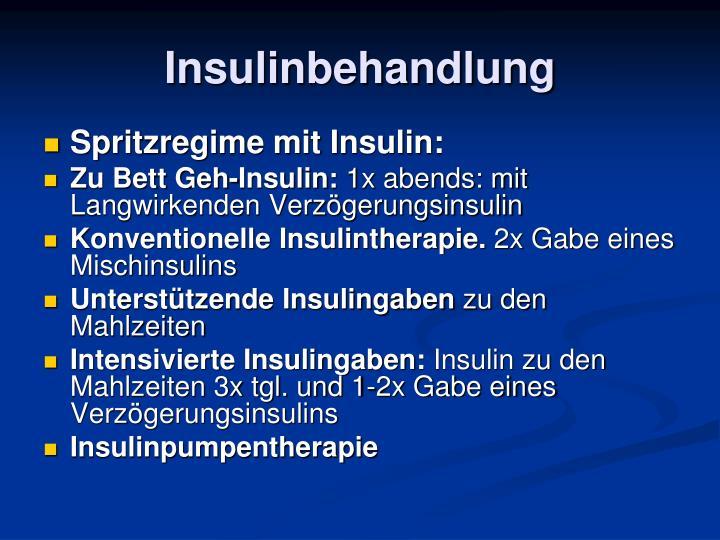Insulinbehandlung