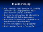 insulinwirkung