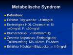 metabolische syndrom
