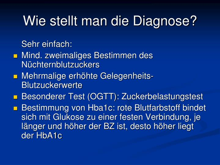 Wie stellt man die Diagnose?