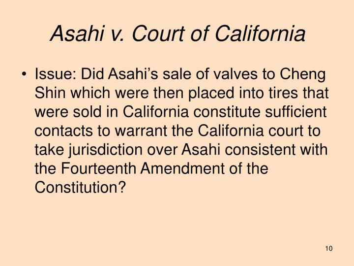Asahi v. Court of California