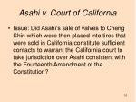 asahi v court of california