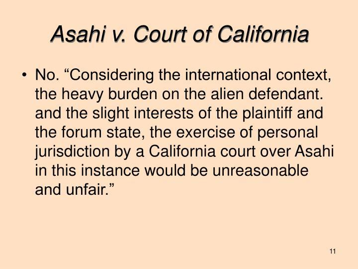 Asahi v. Court of California