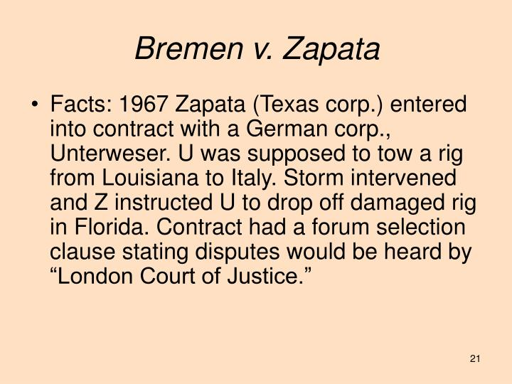 Bremen v. Zapata