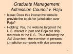 graduate management admission council v raju1