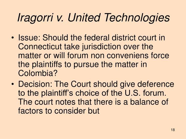 Iragorri v. United Technologies