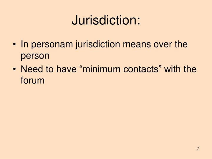 Jurisdiction: