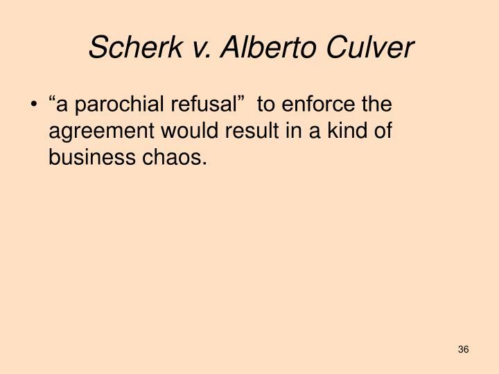 Scherk v. Alberto Culver