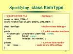 specifying class itemtype