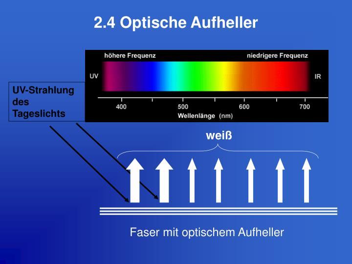 2.4 Optische Aufheller