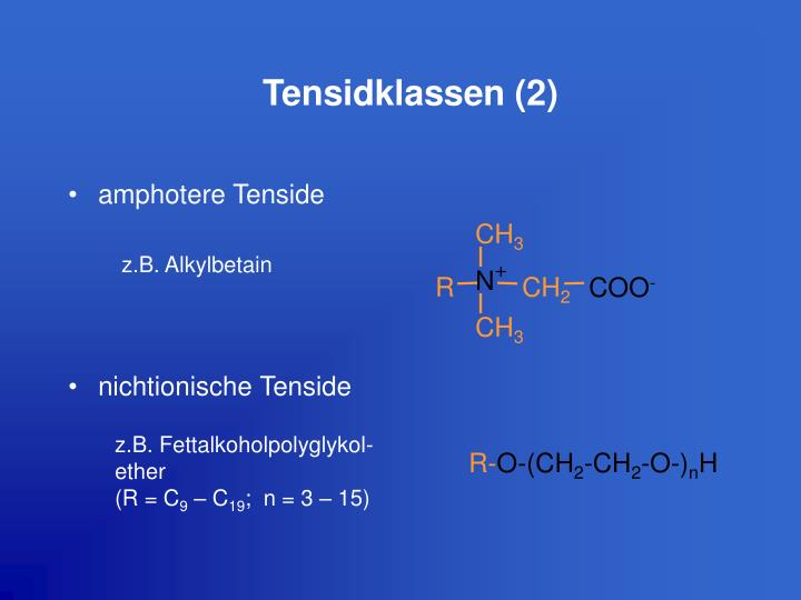 Tensidklassen (2)