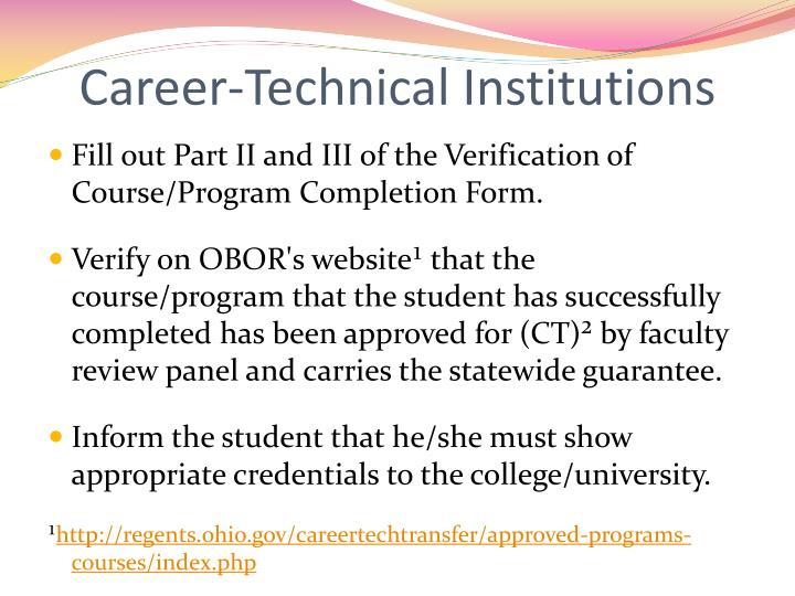 Career-Technical Institutions