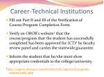 career technical institutions