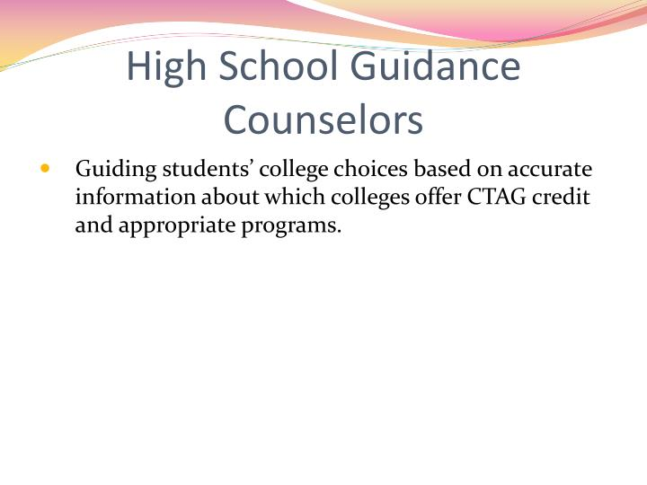 High School Guidance Counselors