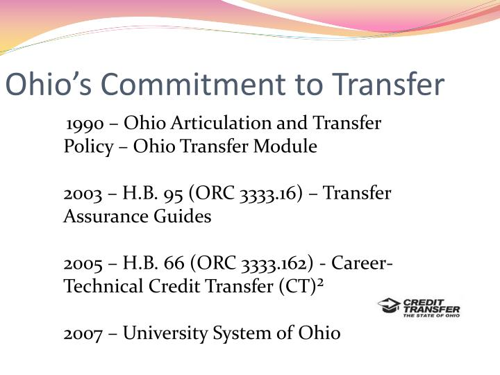 Ohio s commitment to transfer