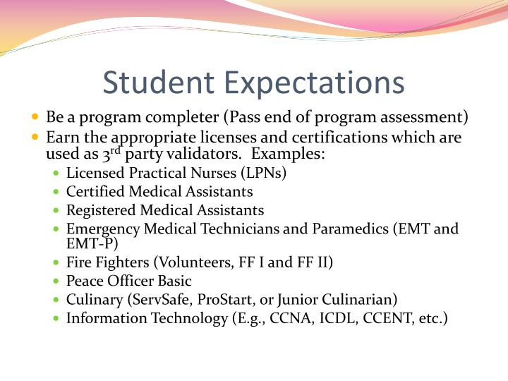 Student Expectations