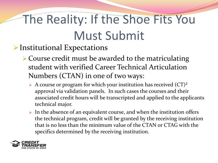 The Reality: If the Shoe Fits You Must Submit