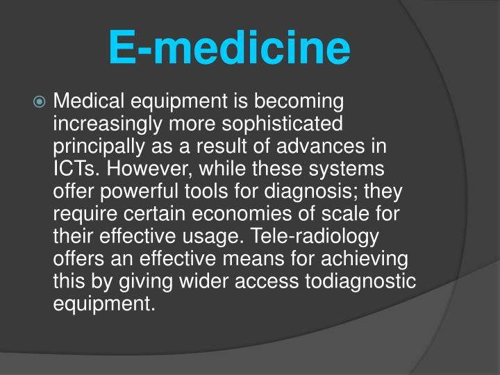 E-medicine