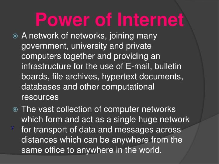 Power of Internet