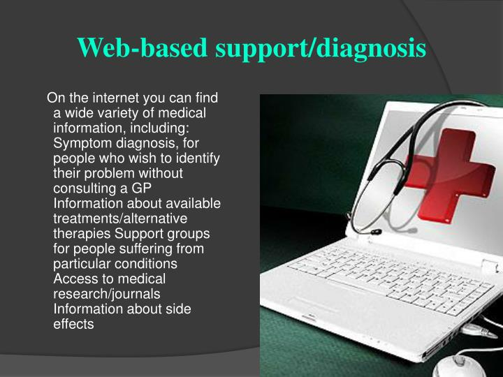 Web-based support/diagnosis