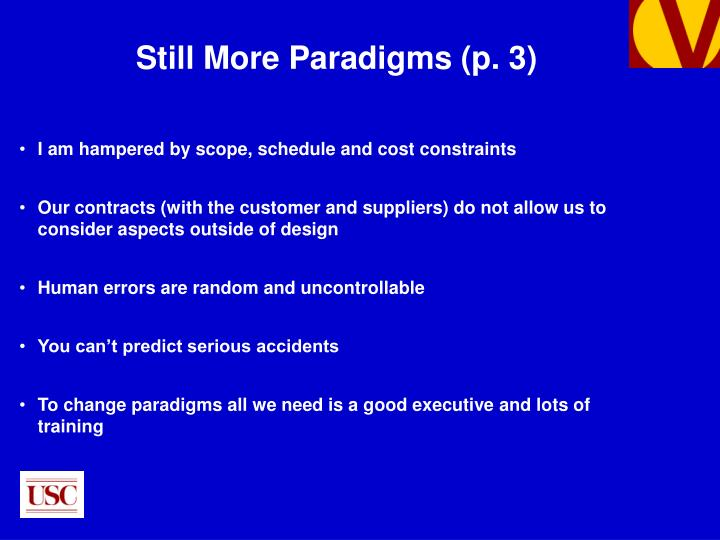 Still More Paradigms (p. 3)