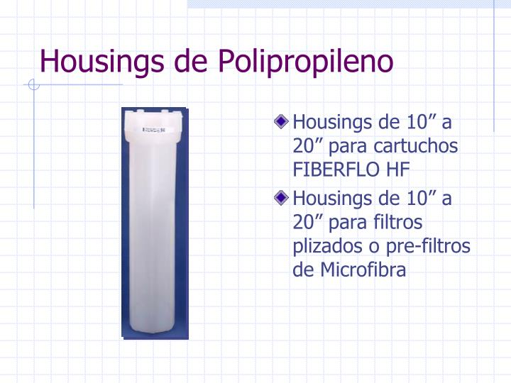 Housings de Polipropileno