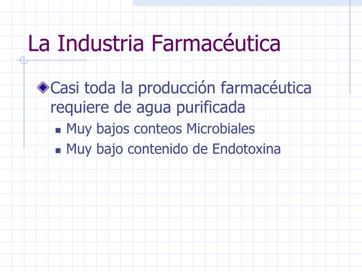 La industria farmac utica