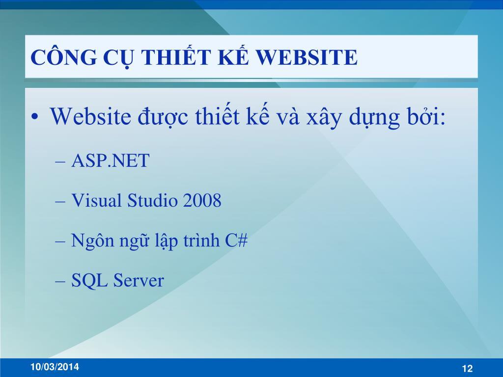 CÔNG CỤ THIẾT KẾ WEBSITE