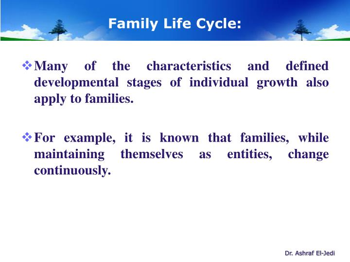 family life cycle essays Life cycle andrea rogers bshs 406 july 13, 2015 joel odimba life cycle when it comes to the life cycle there are stages individuals will pass through.