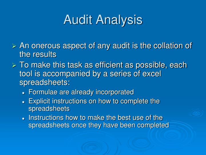 Audit Analysis