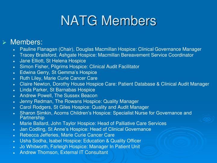 NATG Members