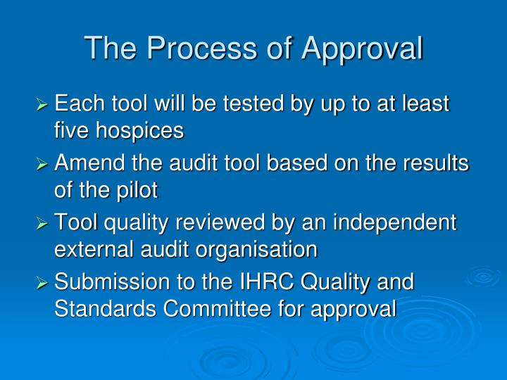 The Process of Approval