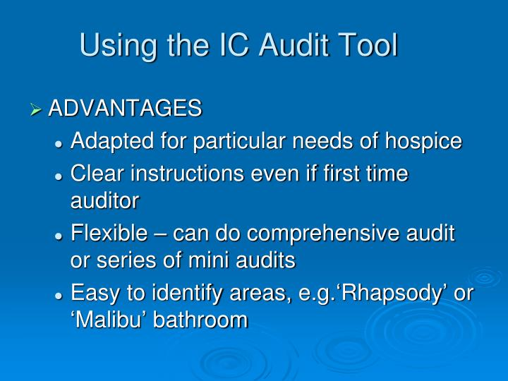 Using the IC Audit Tool