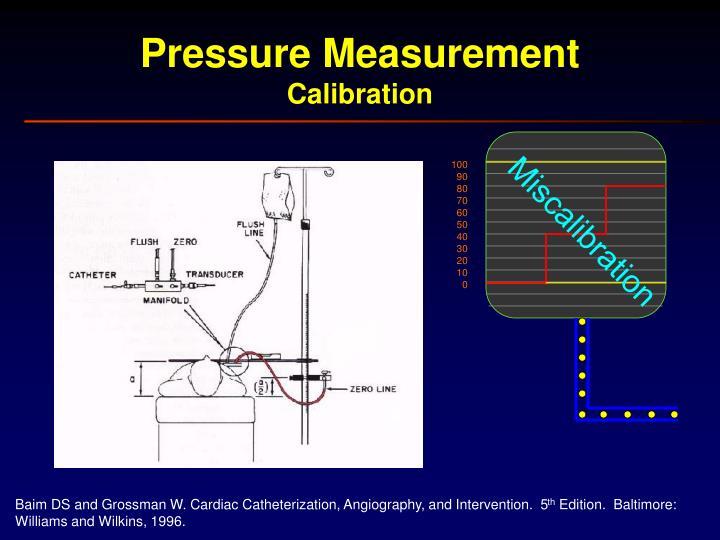 pressure measurement and calibration