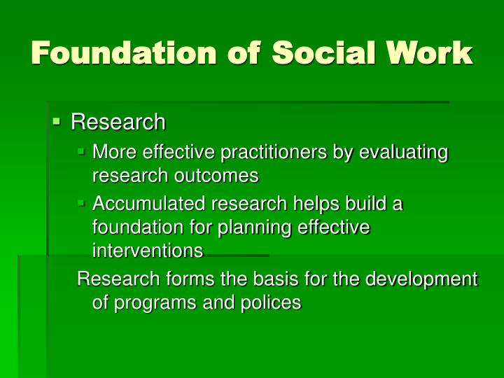 Foundation of Social Work