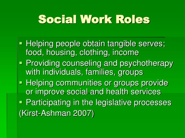 Social Work Roles