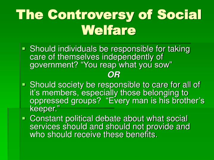 The Controversy of Social Welfare