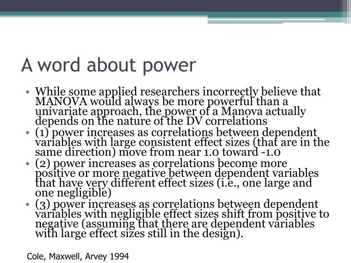 A word about power