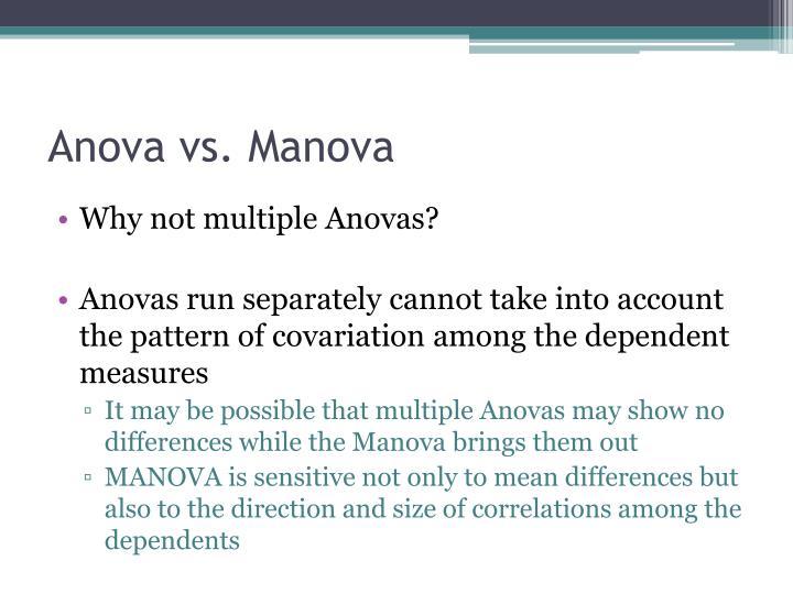Anova vs. Manova