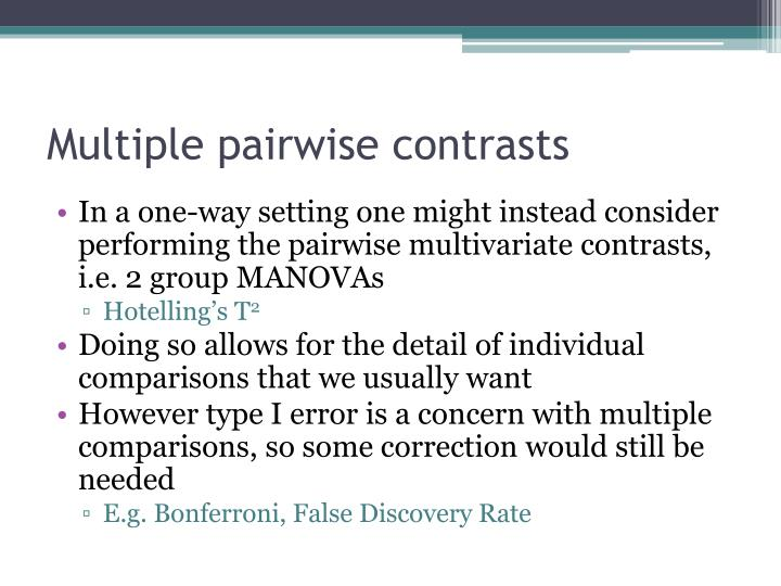 Multiple pairwise contrasts