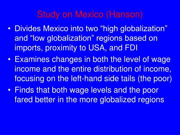 Study on Mexico (Hanson)