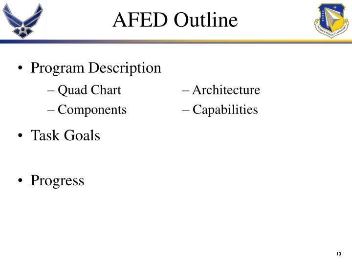 AFED Outline