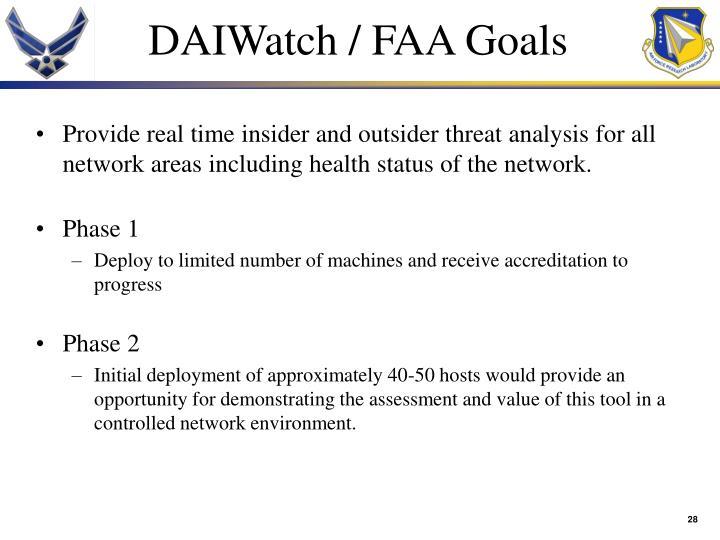 DAIWatch / FAA Goals