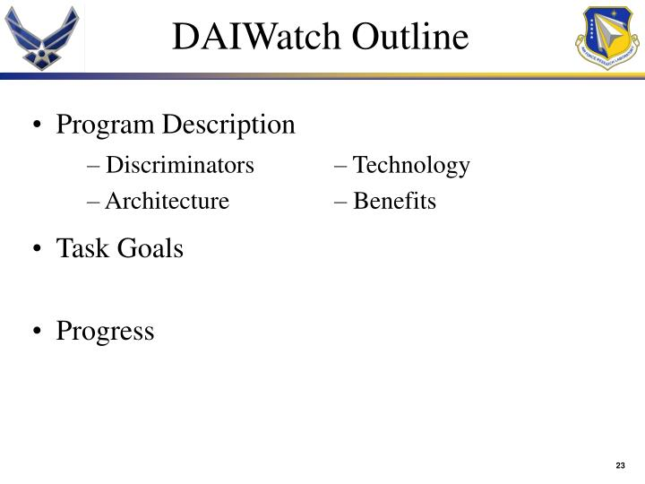 DAIWatch Outline