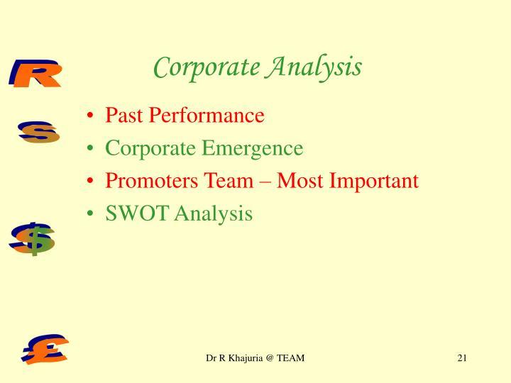 Corporate Analysis