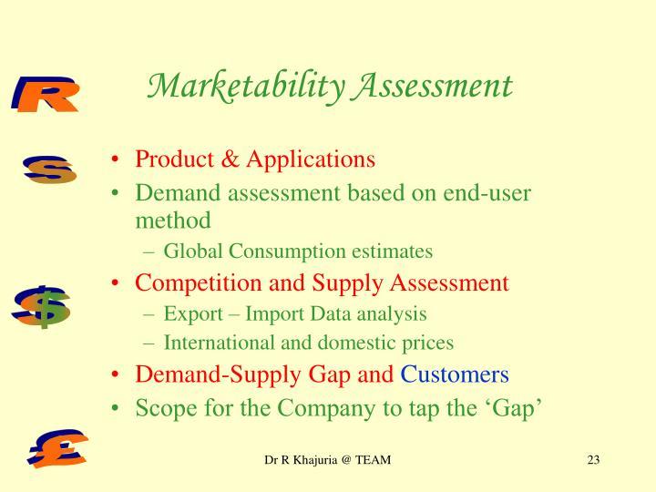 Marketability Assessment