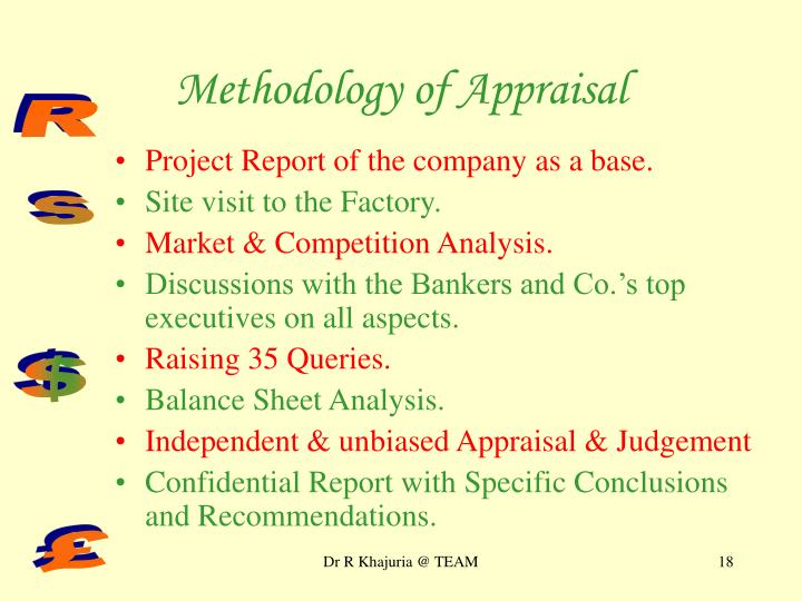 Methodology of Appraisal