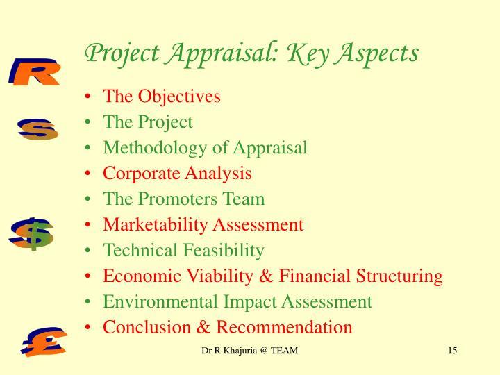 Project Appraisal: Key Aspects