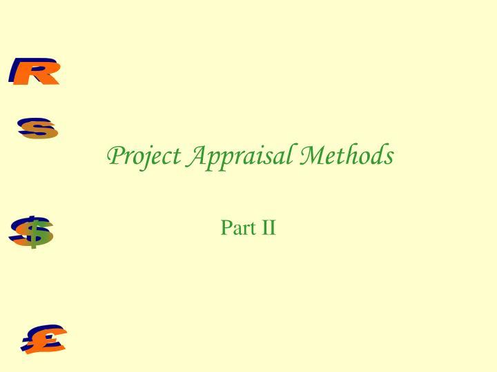 Project Appraisal Methods